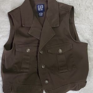 Gap olive/army green denim Vest. Womens size Med